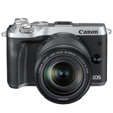 Clearance (New Old Stock) CANON EOS M6 KIT W/EFM18-150 IS STM LENS SILVER