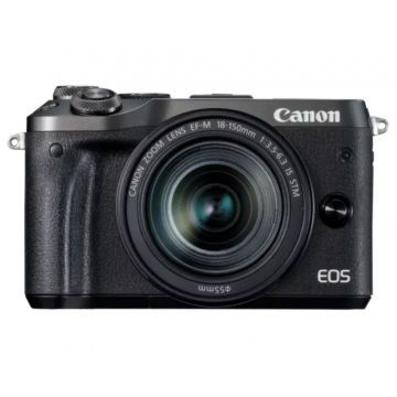Clearance (New Old Stock) CANON EOS M6 KIT W/EFM18-150 IS STM LENS BLACK
