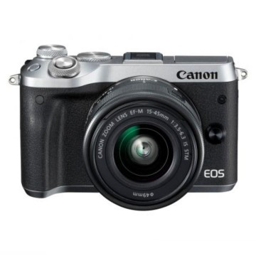 Clearance (New Old Stock) CANON EOS M6 KIT W/M15-45 IS STM LENS SILVER