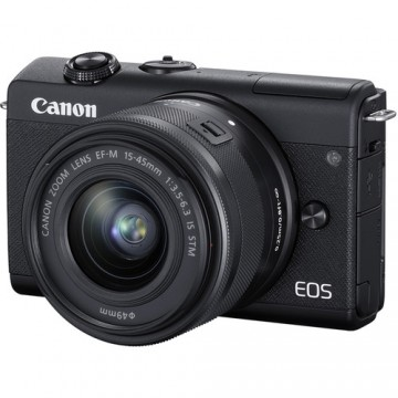 CANON EOS M200 KIT W/M15-45 & 22 IS STM LENS BLACK