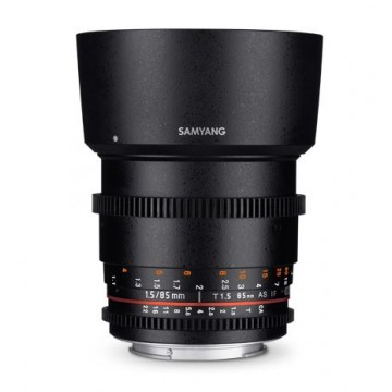 Samyang Lens 85mm T1.5 MK II VDSLR Nikon