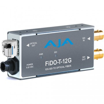 AJA 1-Channel 12G-SDI to Single Mode LC Fiber Transmitter