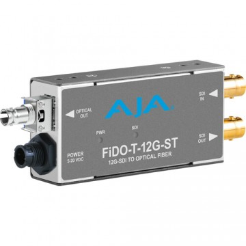 AJA 1-Channel 12G-SDI to Single Mode ST Fiber Transmitter