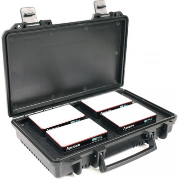 Aputure AL-MC 4-Light Travel Kit with Charging Case