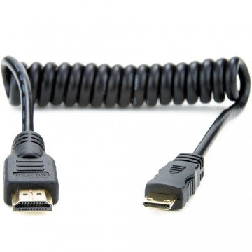 ATOMOS COILED MINI HDMI TO FULL HDMI CABLE (30-45CM) (ATOMCAB008)