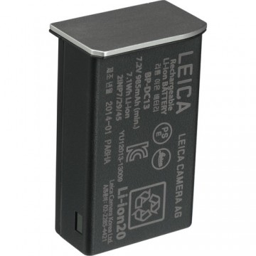 Clearance (New Old Stock) LEICA 18772 LITHIUM-IONEN-AKKU BP-DC13 BATTERY - SILVER