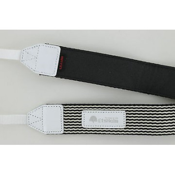 Clearance (New Old Stock) EtsHaim Stripe 38 Camera Strap (White)