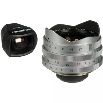 Clearance (New Old Stock)  Cosina L 15mm F4.5 MC Aspherical - Silver (view finder included)