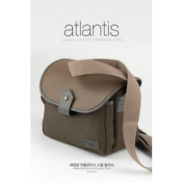 Clearance (New Old Stock)  Herringbone Atlantis Small Olive/Tan