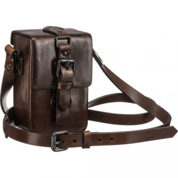 LEICA 18859 VINTAGE  BROWN LEATHER C-LUX CASE