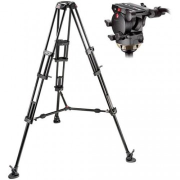 MANFROTTO 526 PROFESSIONAL FLUID HEAD & 545GB ALUMINUM TRIPOD
