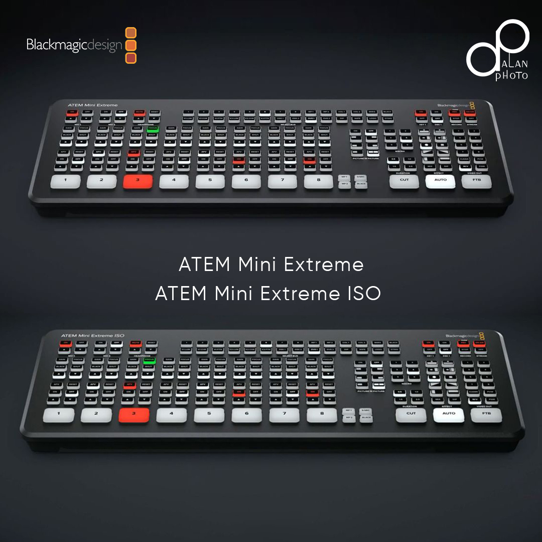 New Release: BMD ATEM Mini Extreme & Extreme ISO